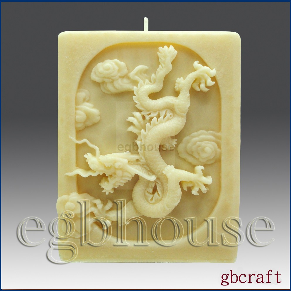 3D Dragon Pillar Candle Silicone Mold