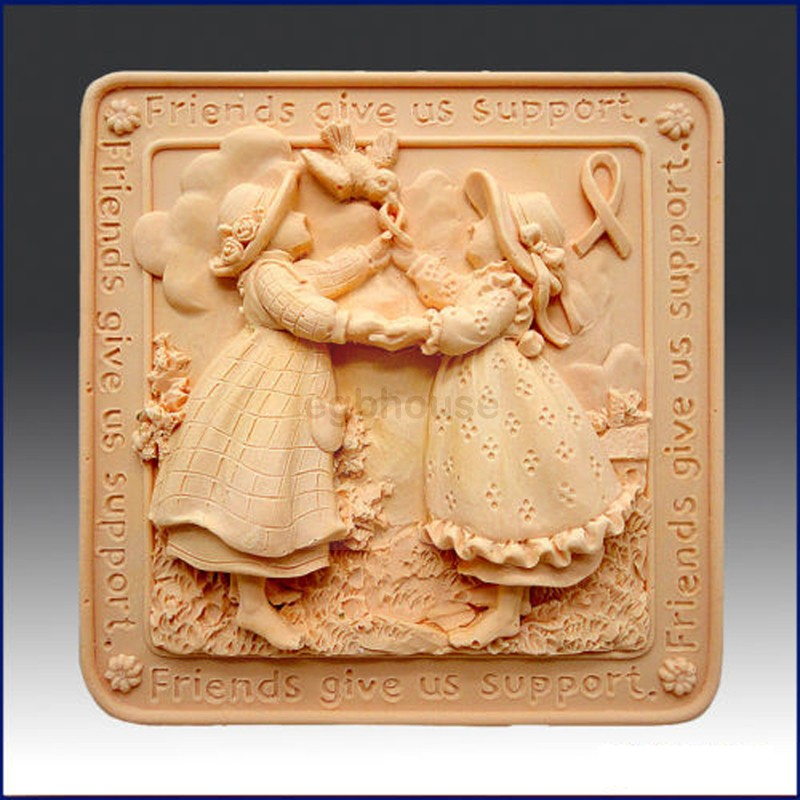 Friends Give Us Support - Detail of high relief sculpture