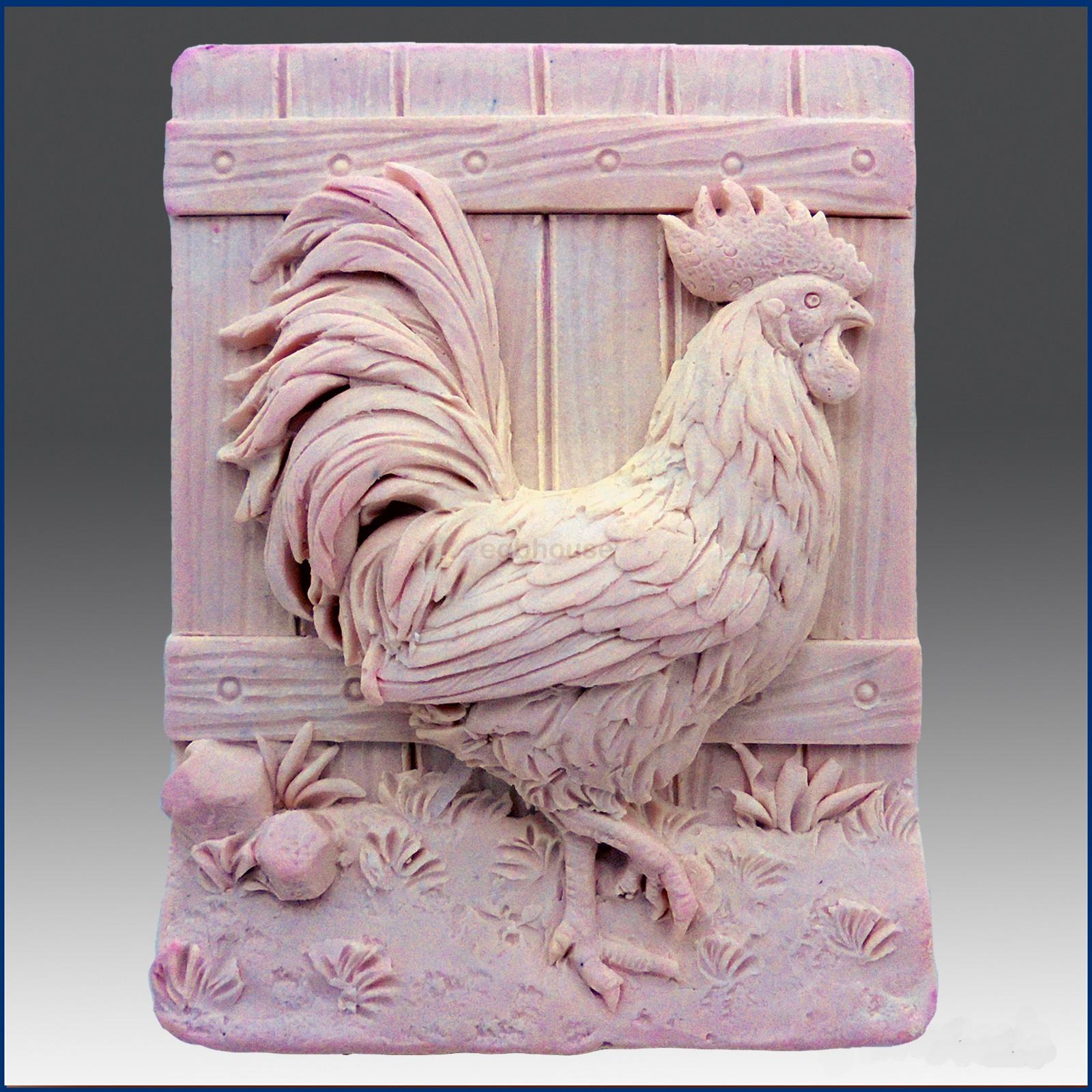 Beautiful Hen - Detail of high relief sculpture