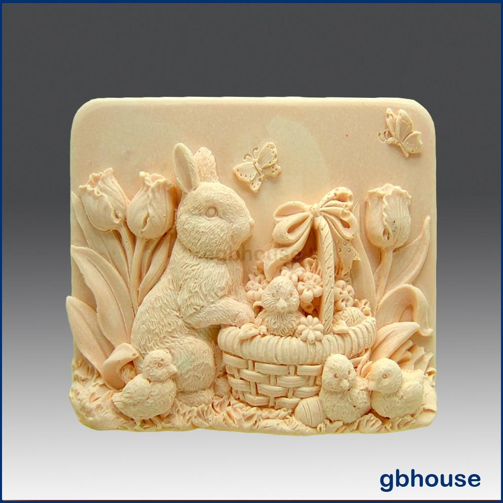 Missy's Garden & Bunny - Detail of high relief sculpture