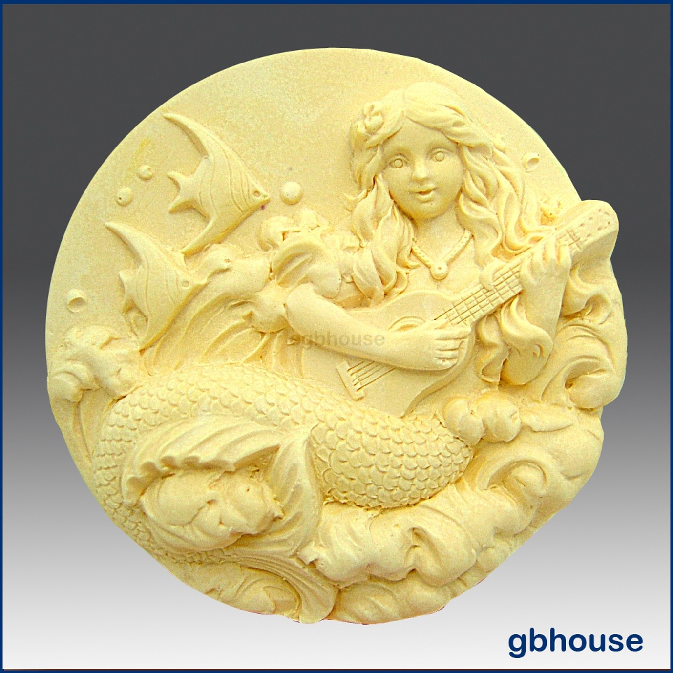 Giselle, Mermaid of the Guitar - Detail of high relief sculpture