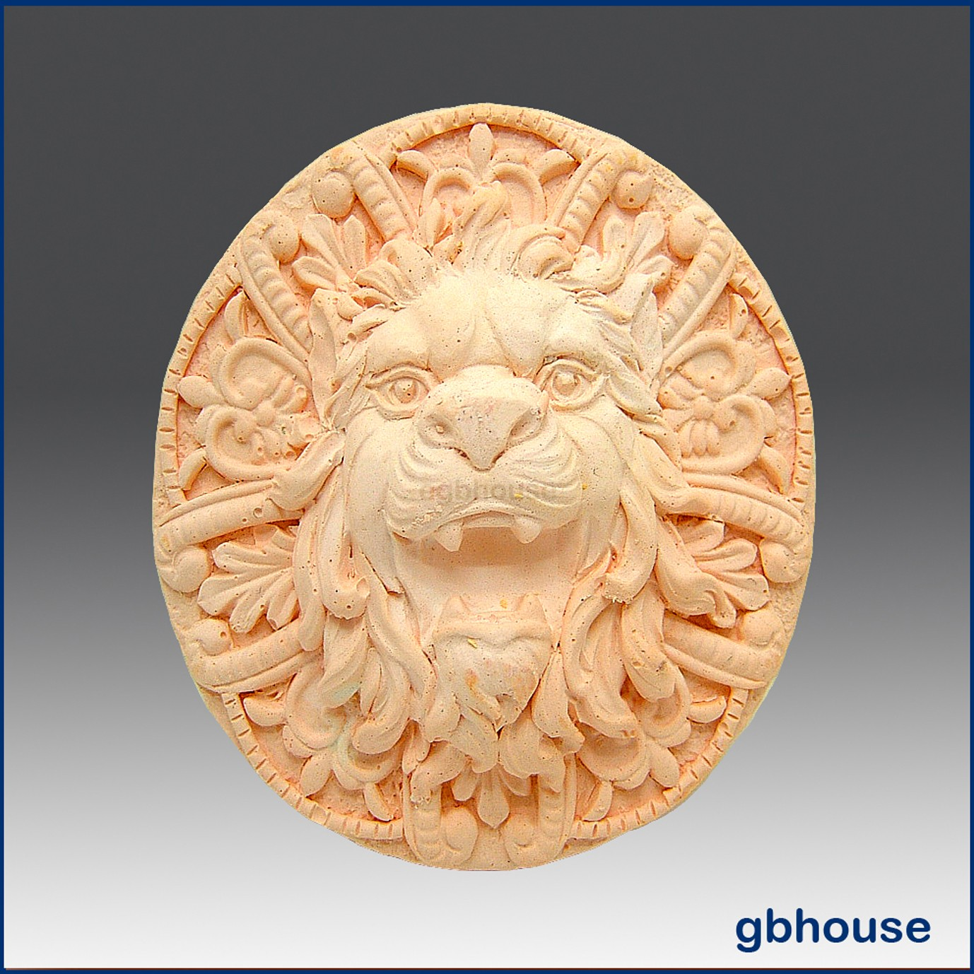 Roaring Lion Rosette - Detail of high relief sculpture