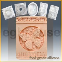 Butterfly Plaque- Detail of high relief sculpture - Food grade