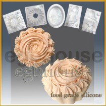 Cup Cake with icing Top - Detail of high relief sculpture - Food grade