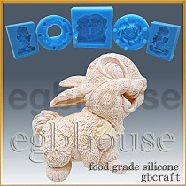 Funny Bunny - Detail of high relief sculpture - Food grade