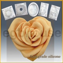 Rose Heart - Detail of high relief sculpture - Food grade