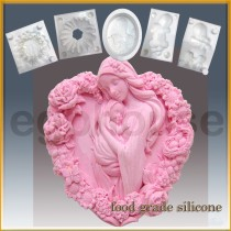 Heart Shaped Mother and Child - Detail of high relief sculpture - Food grade