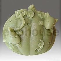 Pumpkin Hide 'n Seek Mice- Detail of high relief sculpture