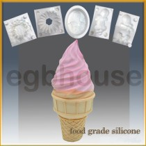 Ice Cream Cone Delight - Detail of high relief sculpture - Food grade