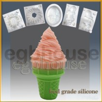 Ice Cream Cone 2 - Detail of high relief sculpture - Food grade