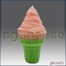 Ice Cream Cone 2 - 3D Soap and Candle Mold