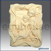 Almond Fairy Lovers - Detail of high relief sculpture