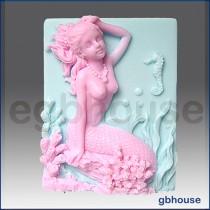 Mermaid Alina - Detail of high relief sculpture
