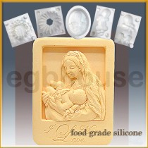 Mother and Child in Niche Frame  - Detail of high relief sculpture - Food grade
