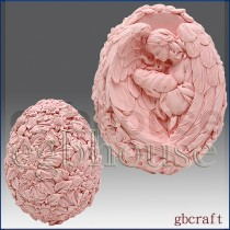 Mother Angel with Infant - 3D Soap and Candle Mold