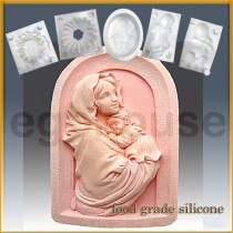 Mother & Baby in Arch  - Detail of high relief sculpture - Food grade
