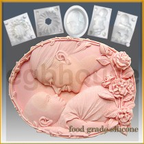 Mother Cuddles Baby - Detail of high relief sculpture - Food grade