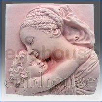 Dreaming Mother and Child - Detail of high relief sculpture