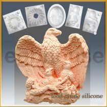 Majestic Eagle with Chicks- Detail of high relief sculpture - Food grade