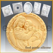 Mother with Child on Lap  - Detail of high relief sculpture - Food grade