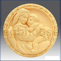 Mother with Child on Lap - Detail of high relief sculpture