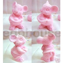 Lucky, Wealthy Mouse - 3D Soap and Candle Mold