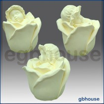 Rose Baby Angel - 3D Soap and Candle Mold