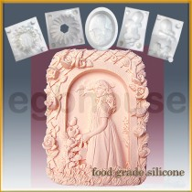 Garden Lass  - Detail of high relief sculpture - Food grade