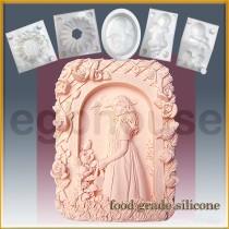 Garden Lass  - Detail of high relief sculpture - Food grade