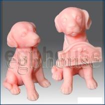 3D Sitting Dog