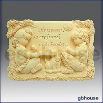 Sweet Friends - Detail of high relief sculpture