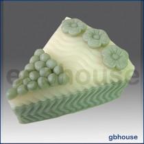 Wedding Cake Slice * Flower - Detail of high relief sculpture