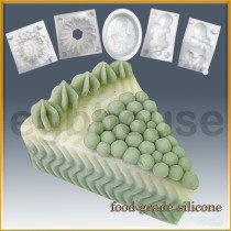 cake sliced shaped  - Detail of high relief sculpture - Food grade