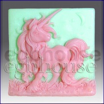 Elissa the Unicorn Queen - Detail of high relief sculpture