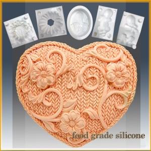 Crochet Heart- Detail of high relief sculpture - Food grade