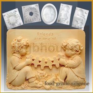 Dear Friends - Detail of high relief sculpture - Food grade
