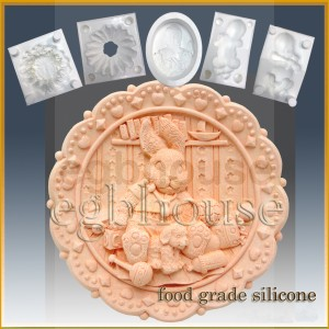 Country Bunny Toyland - Boy - Detail of high relief sculpture - Food grade