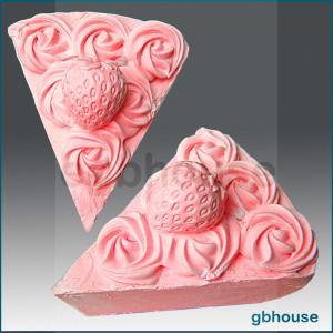 Strawberry Pie Slice - Detail of high relief sculpture